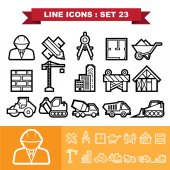 Construction icons set 23 — Stock Vector