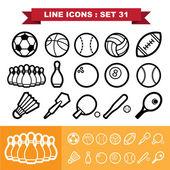 Sport icons set 31 — Stock Vector