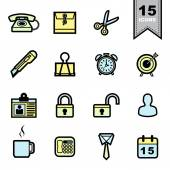 Office tools icons set — Stock Vector