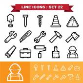 Line icons set 21 — Stock Vector