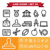 Line icons set 29 — Stock Vector