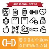 Line icons set 32  — Vecteur