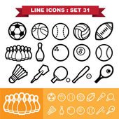 Line icons set 31 — Stock Vector