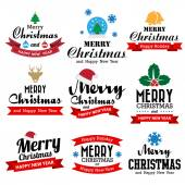 Christmas and Happy new year collection — Stock Vector