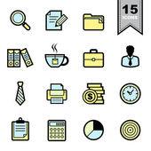 Conjunto de iconos de oficina — Vector de stock