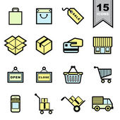 Packaging icons set  — Stock Vector