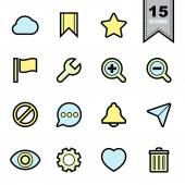 Interface icons set — Stock Vector