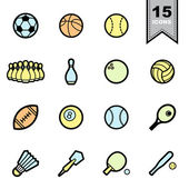 Sport icons set — Stock Vector