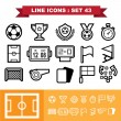 Soccer football  Line icons set 43 — Vector de stock  #64582727