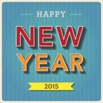 Happy new year retro poster — Stock Vector #64586659