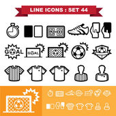 Soccer football  Line icons set 44 — Vettoriale Stock