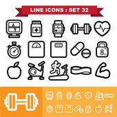 Line icons set 32 — Stock Vector