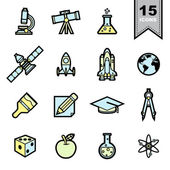 Science icons set — Stock Vector