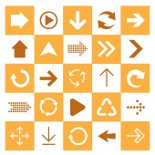 Basic arrow sign icons set. — Stock Vector