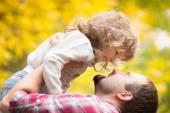 Mutlu baba ve çocuk Güz — Stok fotoğraf