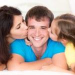 Happy family at home — Stock Photo #54599741