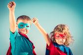 Superhero kids — Stock Photo