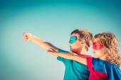 Superhero kids — Stock Photo