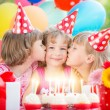 Children celebrating birthday — Stock Photo #66756675