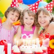 Children celebrating birthday — Stock Photo #66756711