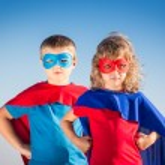 Superhero kids — Stock Photo #68856575