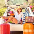 Woman going on summer vacation — Stock Photo #71877367