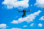Hexacopter with photo camera attached — Stockfoto