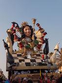 VIAREGGIO, ITALY - FEBRUARY 19:   parade of allegorical chariot  — Stock Photo