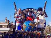 VIAREGGIO, ITALY - FEBRUARY 2:   allegorical float at Viareggio  — Stock Photo