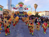 VIAREGGIO, ITALY - FEBRUARY 1:   allegorical float at Viareggio  — Stock Photo