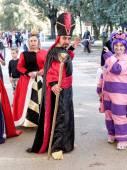 LUCCA, ITALY - November 11:   masks cartoon characters at Lucca — Stock Photo