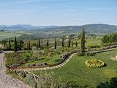 Panoramic views of the Tuscan hills — Stock Photo