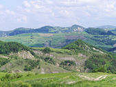 Panoramic views of the Tuscan-Emilian Apennines Italy — Stock Photo