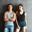 Fashion young couple — Stock Photo #65293827