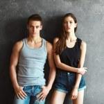 Fashion young couple — Stock Photo #65294239