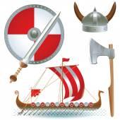 Attributes Vikings — Stock Vector