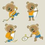 Bear athlete — Stock Vector #72798219