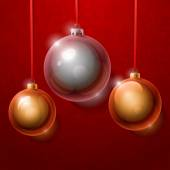 Christmas  shiny glass balls — Stock Vector