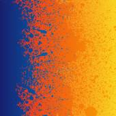 Colorful blue, orange and yellow paint — Stock Vector