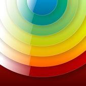 Infografiken Regenbogen Runde Papierhintergrund — Stockvektor