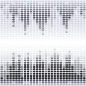 Grey and black digital equalizer background — Stock Vector