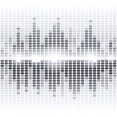 Shining grey digital equalizer background — Stock Vector