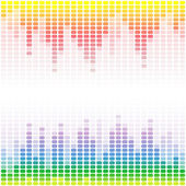 Rainbow digital equalizers background — Stock Vector