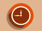 Icon of clock — Stock Vector