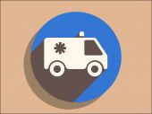 Flat icon of ambulance — Stock Vector