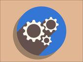 Getriebe-symbol — Stockvektor