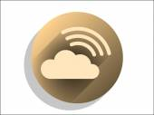 Flat icon of cloud — Stock Vector