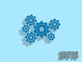 Flat icon of gears — Vettoriale Stock