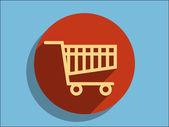 Icon of shopping cart — Stock Vector