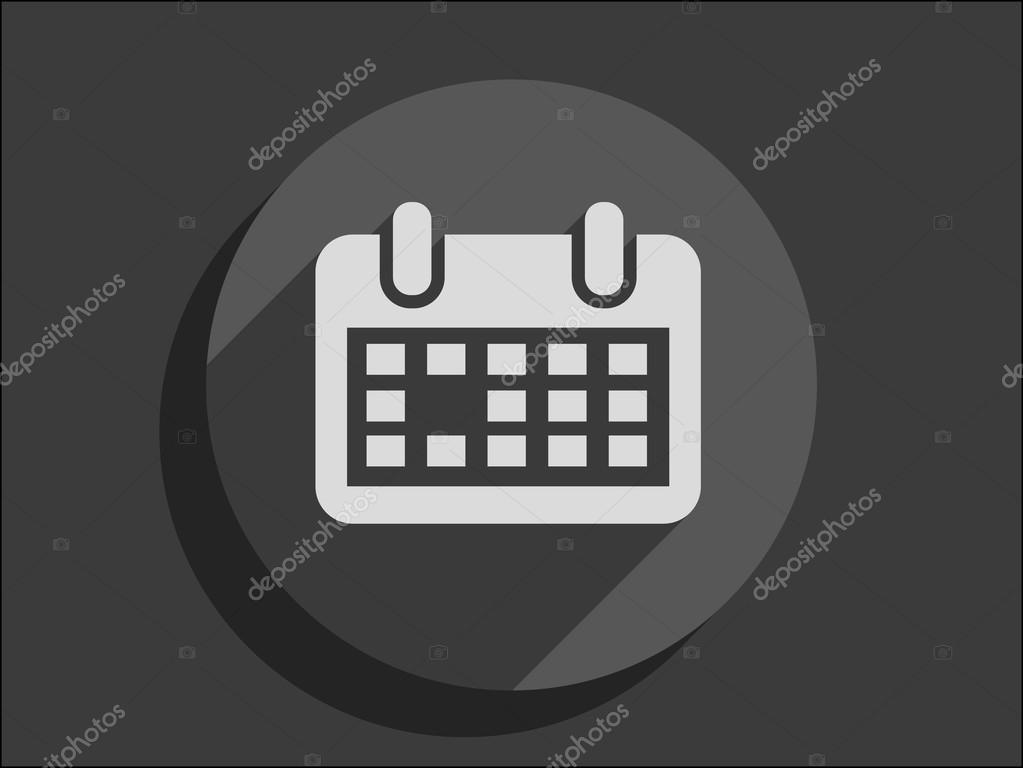 平的日历图标 — 图库矢量图片 #54677561